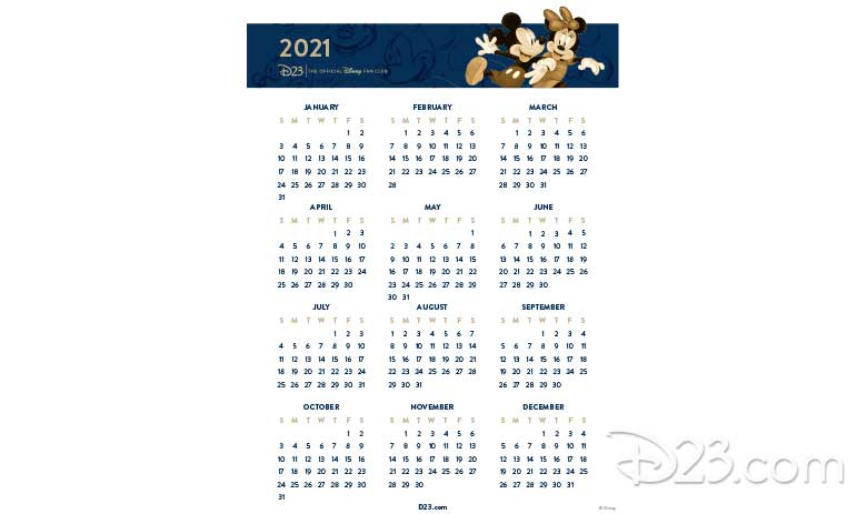 Mickey and Minnie Calendar