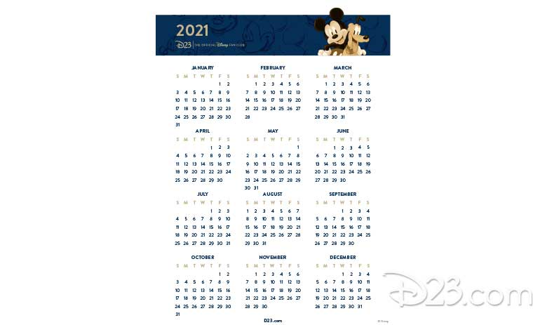 Mickey and Pluto Calendar