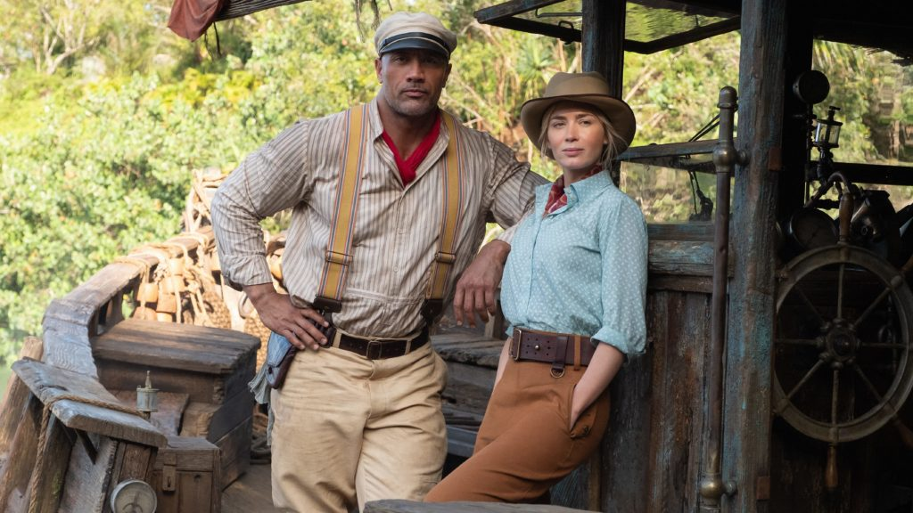 Jungle Cruise movie featuring The Rock and Emily Blunt