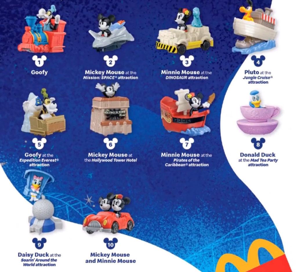 Happy Meal Disney toys
