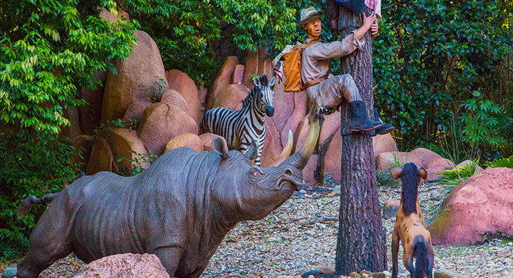 Image from the Jungle Cruise ride at Disney