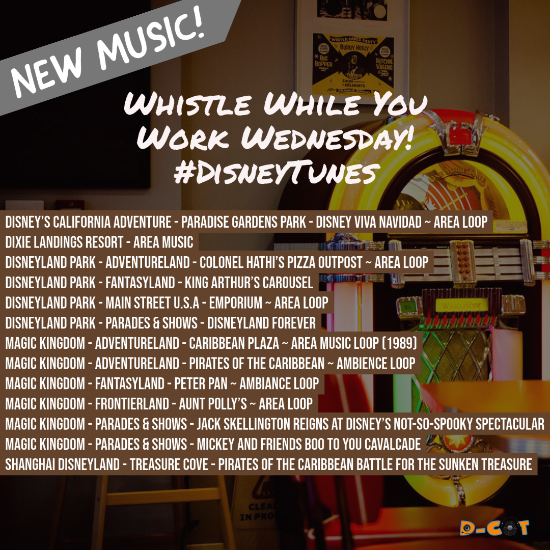 [NEW MUSIC] Listen to Area Loops from Disneyland Park, Magic Kingdom and More!