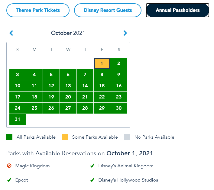 Sold Out for Annual Passholders